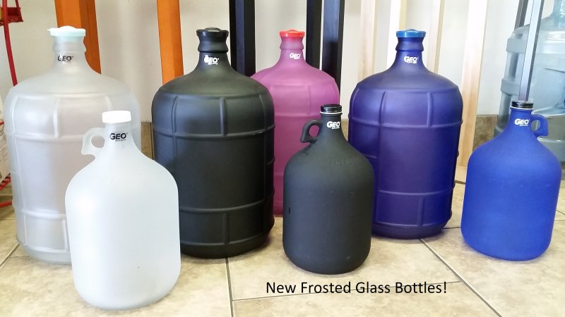 Frosted Glass Bottles