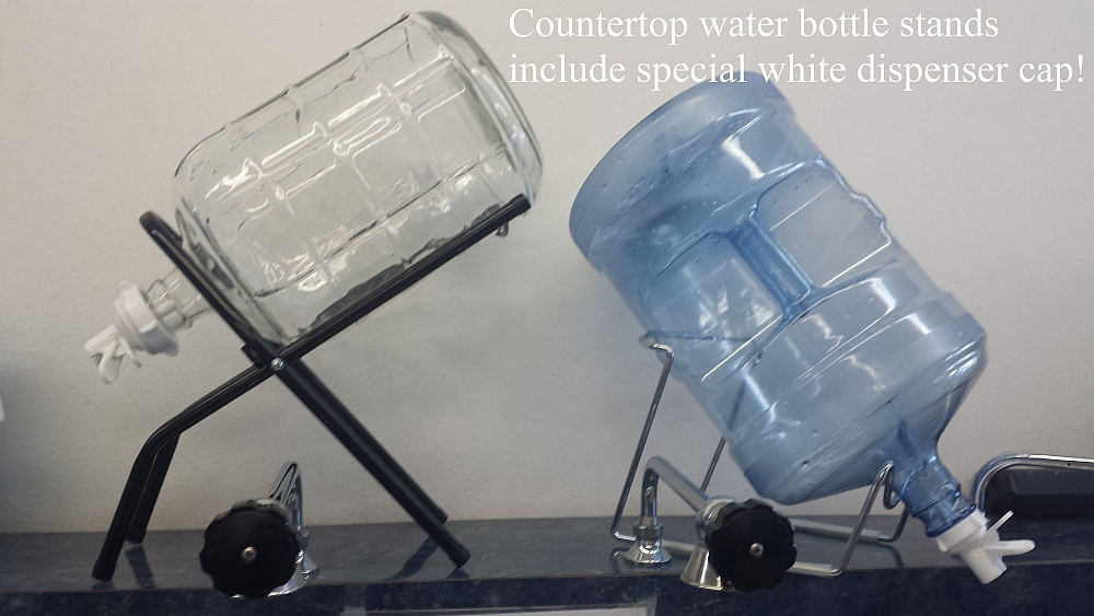counter top water bottle stand